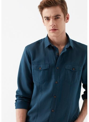 Mavi Erkek  Keten Gömlek 021199-28445 Mavi